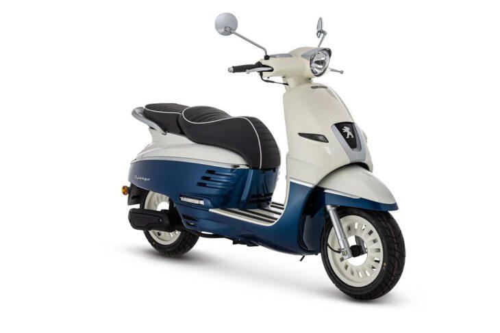 De Peugeot Django ocean blue is scherp geprijsd leverbaar bij de enige officiële Peugeot dealer van Alphen aan den Rijn; Van der Louw tweewielers.